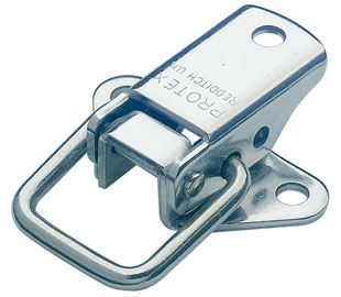 Non-Adjustable Toggle Latch Light Duty Mild Steel Zinc Plate Passivate (Silver Blue)