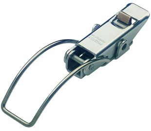 Spring Claw Toggle Latch with Safety Catch Light Duty Mild Steel Zinc Plate Passivate (Silver Blue)