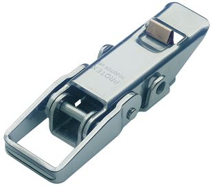 Non-Adjustable Toggle Latch with Safety Catch Light Duty Mild Steel Zinc Plate Passivate (Silver Blue)