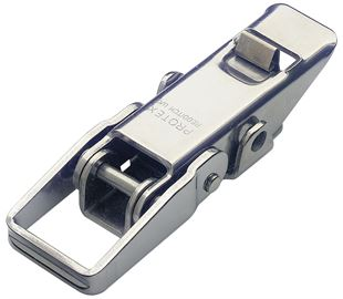 Non-Adjustable Toggle Latch with Safety Catch Light Duty Stainless Steel (Natural)