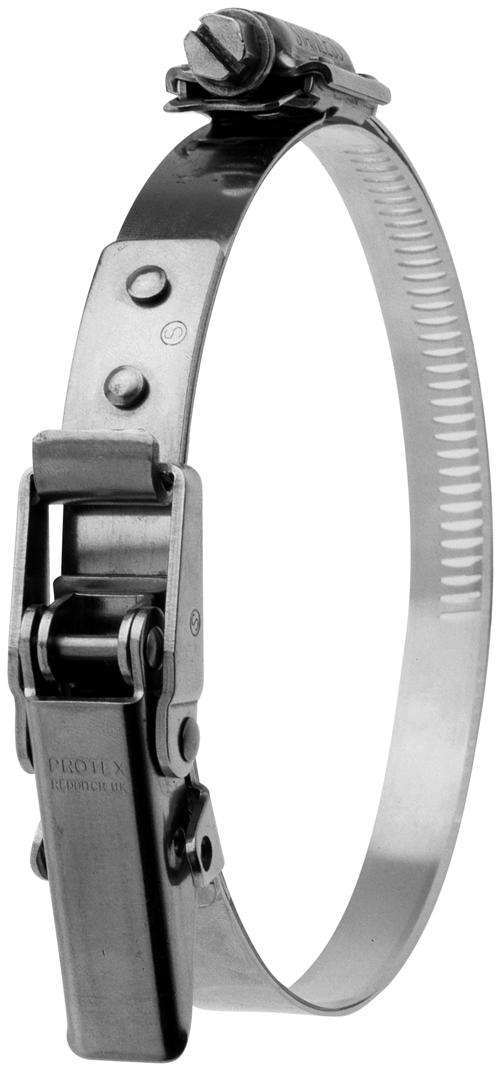 90-135mm Diameter Hi-Torque Rigid Claw Stainless Steel Quick Release Bandclamp (Natural)