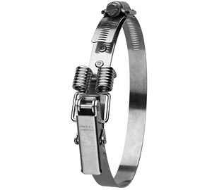 90-135mm Diameter Hi-Torque Spring Claw Stainless Steel Quick Release Bandclamp (Natural)