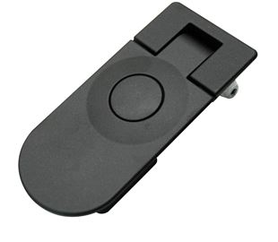 Sealed Lever Latch, Push Button, Non-Locking, Black Powder Coated