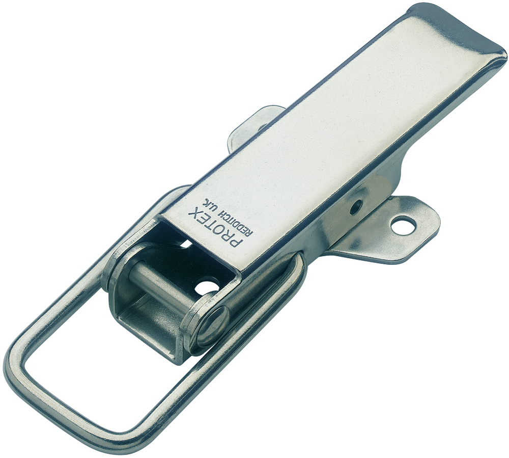 Non-Adjustable Latch Medium Duty Mild Steel Zinc Plate Passivate (Silver Blue)