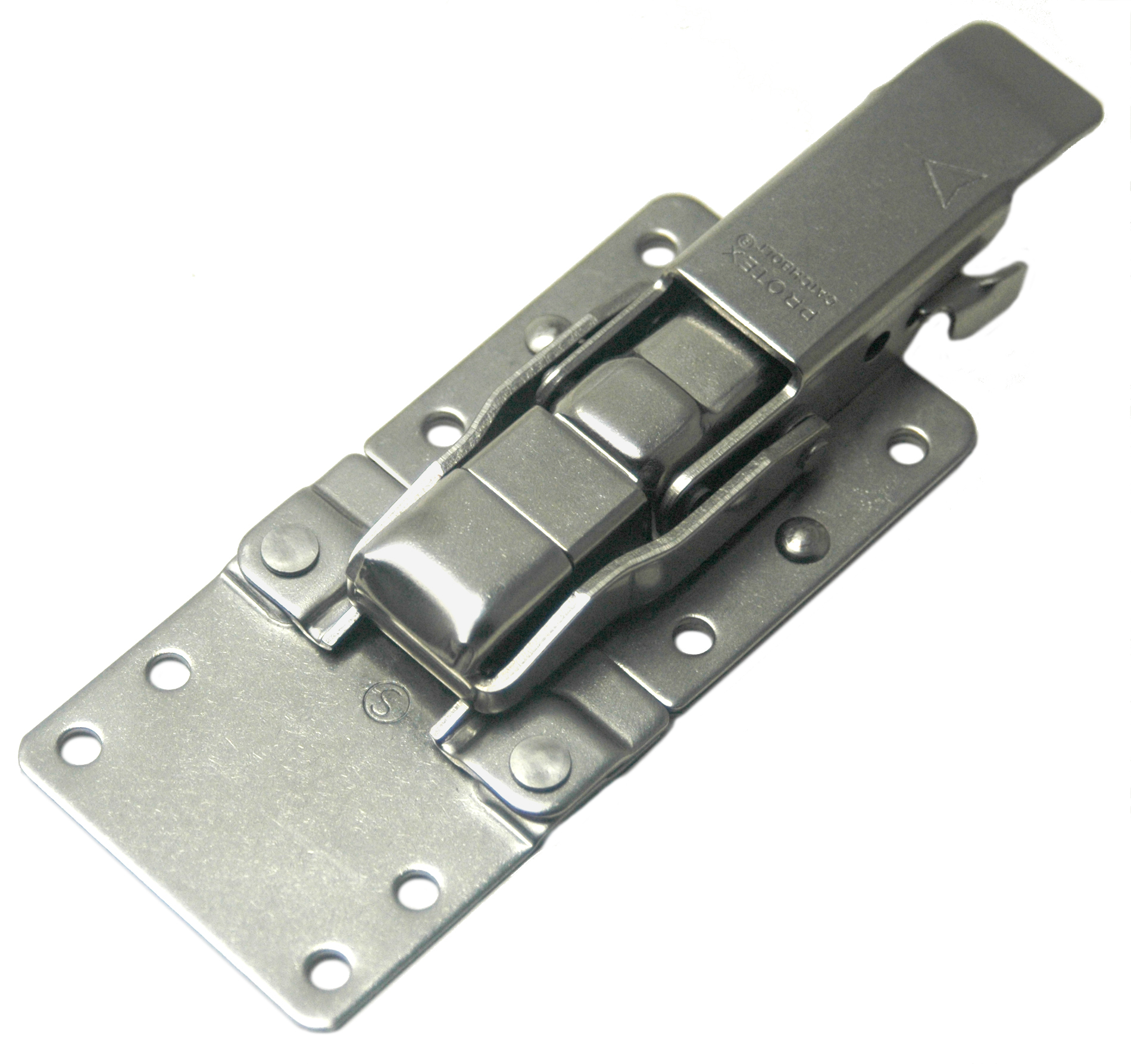 CatchBolt with Extension Plate and Safety Catch Stainless Steel (Natural)