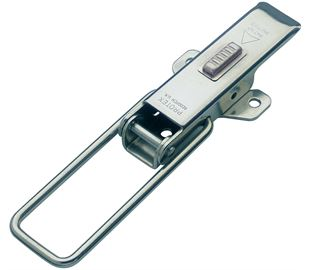 Non-Adjustable Latch with Safety Catch Medium Duty Mild Steel Zinc Plate Passivate (Silver Blue)