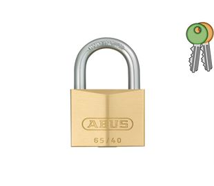 Brass Padlock with 6.5mm Hardened Shackle