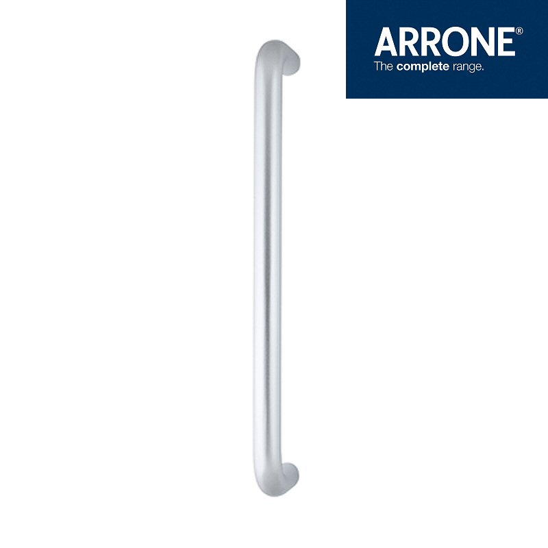 D Shape Pull Handle 19mm Diameter X 300mm Wide Aluminium (Satin Anodised)