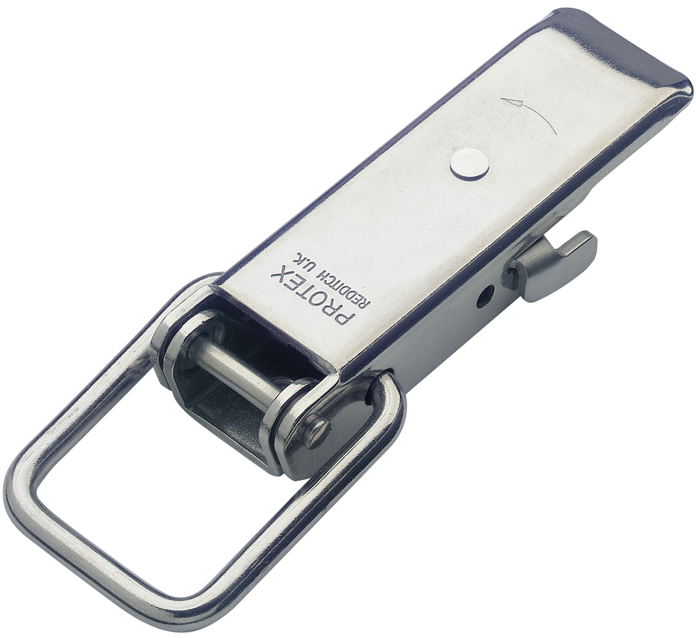 Non-Adjustable Latch with Safety Catch Medium Duty Stainless Steel type 316 (Natural)