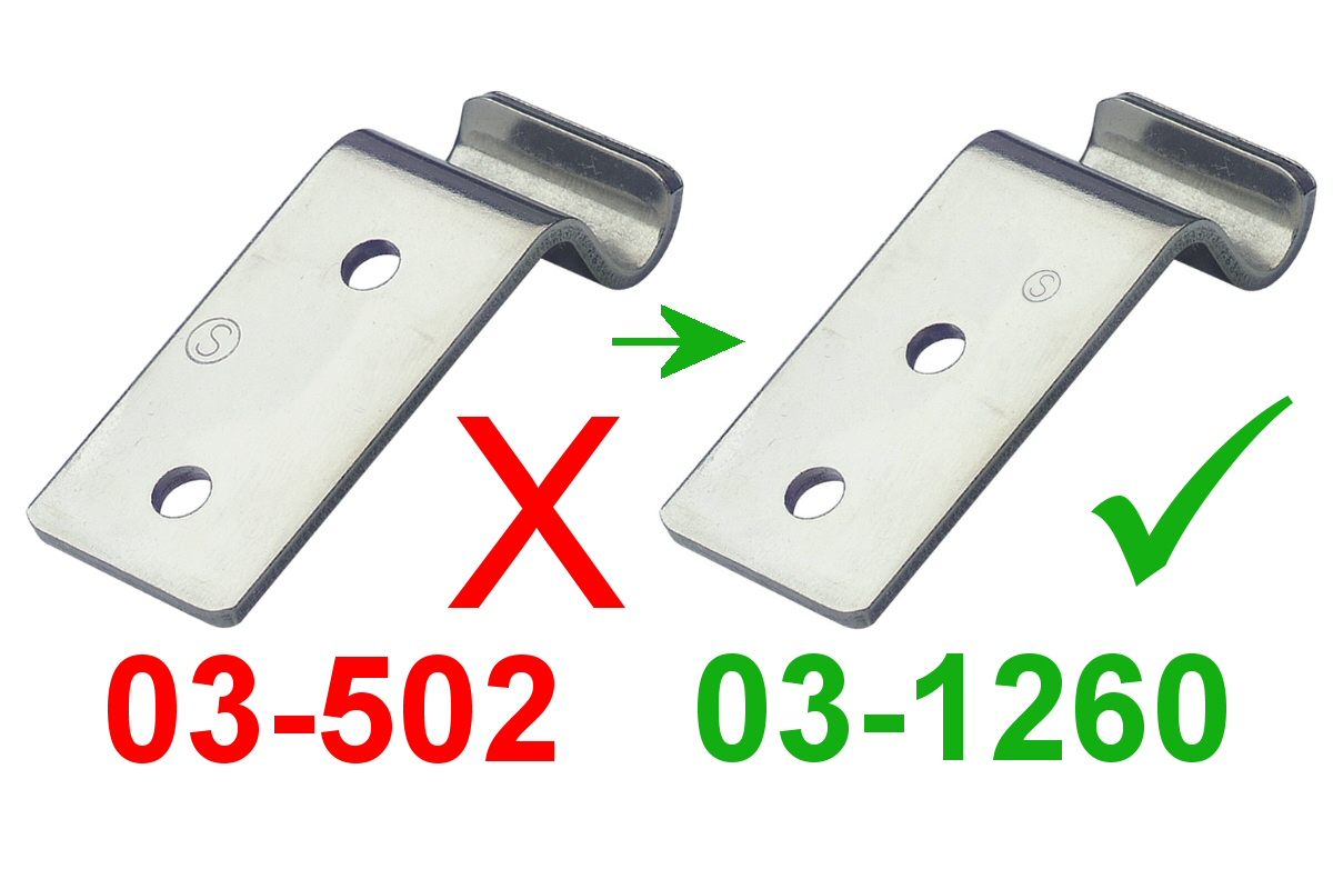 Catch Plate for Toggle Latch Stainless Steel (Natural)