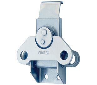 Rotary Turn Latch Spring Loaded Mild Steel Zinc Plate Passivate (Silver Blue)