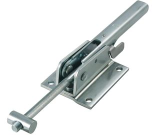 Adjustable Toggle Latch with Safety Catch Heavy Duty Mild Steel Zinc Plate Passivate (Silver Blue)