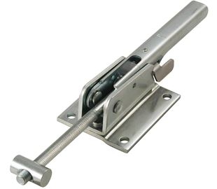 Adjustable Toggle Latch with Safety Catch Heavy Duty Stainless Steel (Natural)