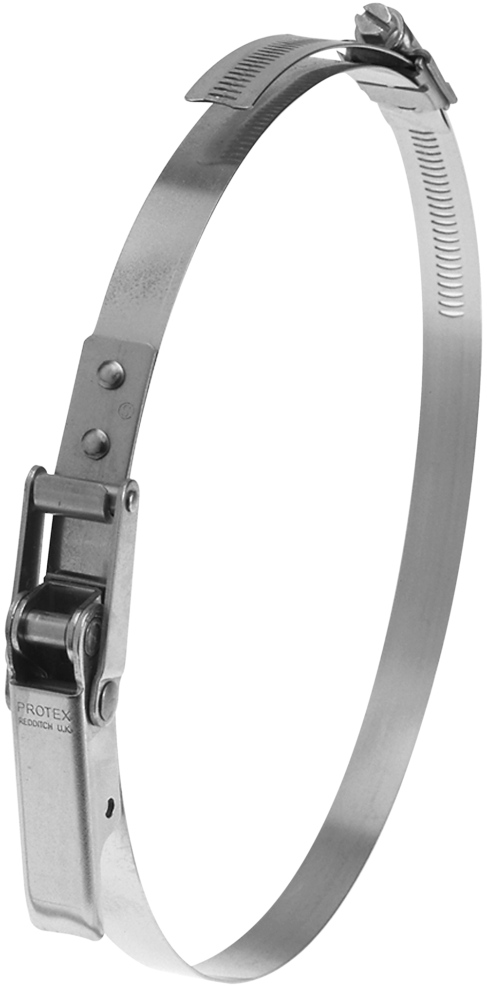 410-455mm Diameter Hi-Torque Rigid Claw Stainless Steel Quick Release Heavy Duty Bandclamp (Natural)