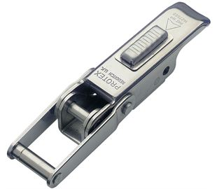 Non-Adjustable Latch with Safety Catch Medium Duty Stainless Steel (Natural)