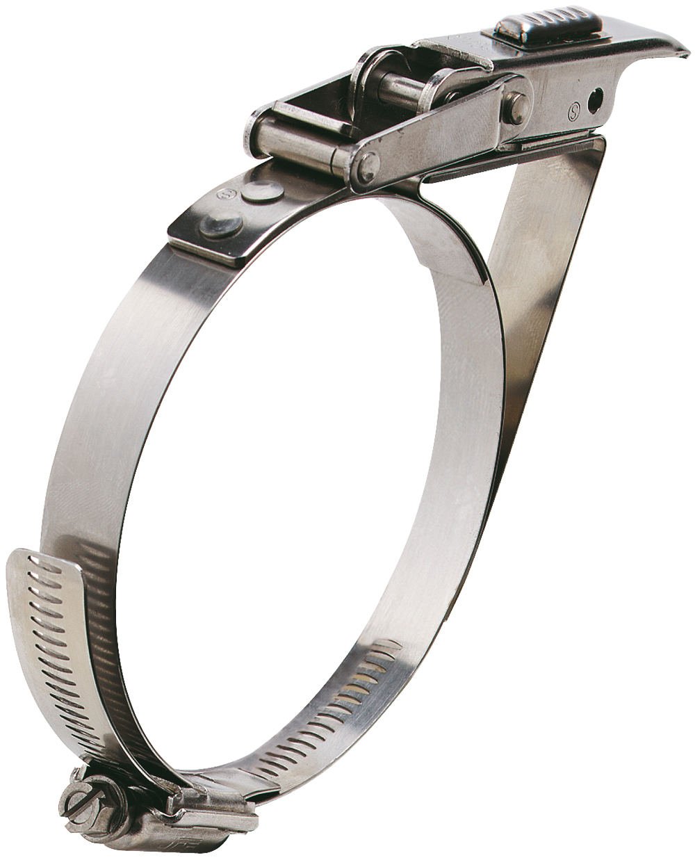 65-90mm Diameter Hi-Torque Heavy Duty Stainless Steel Quick Release Bandclamp with Safety Catch