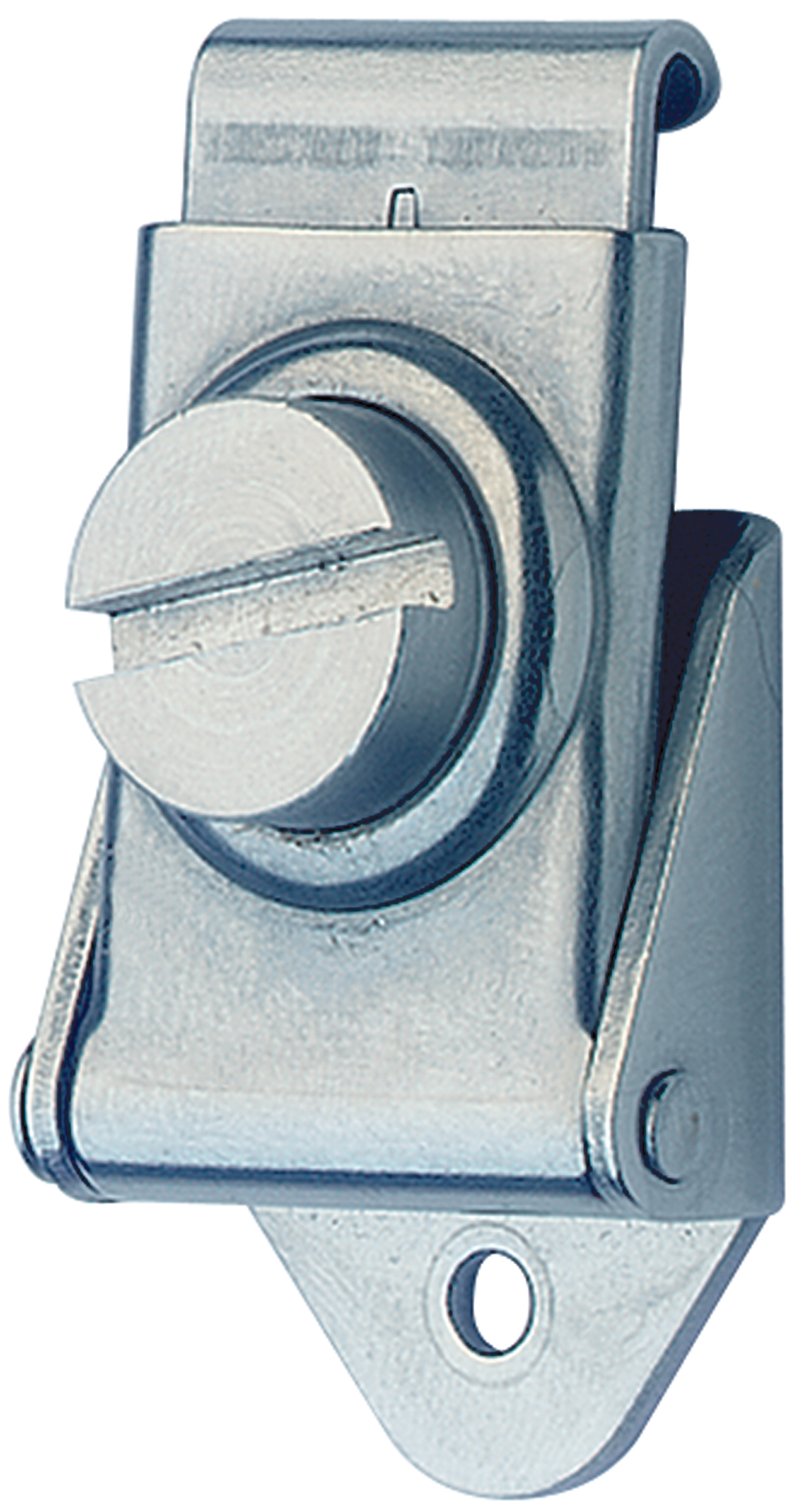 Rotary Turn Latch Mild Steel Zinc Plate Passivate (Silver Blue)