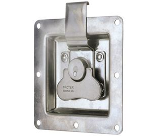 Rotary Turn Latch in Recess Dish Stainless Steel (Natural)