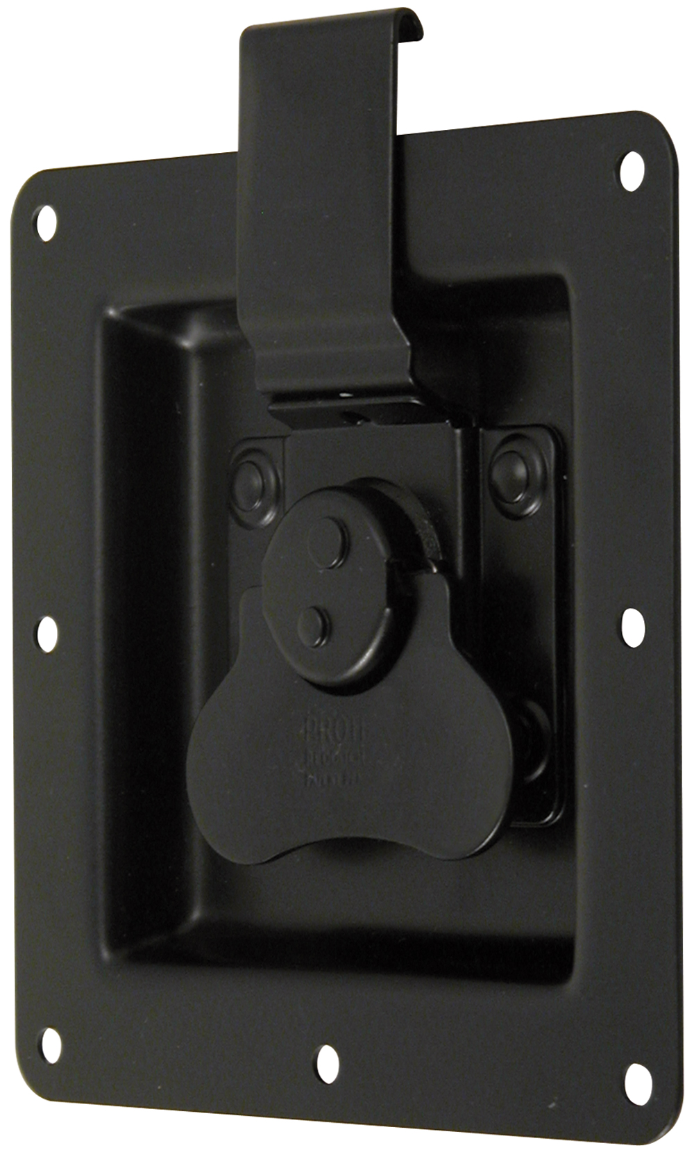 Rotary Turn Latch in Recess Dish Mild Steel Black