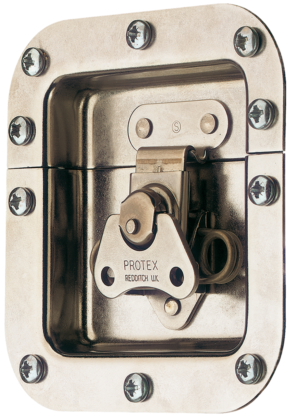 Rotary Turn Latch in Recess Dish Spring Loaded Stainless Steel (Natural)