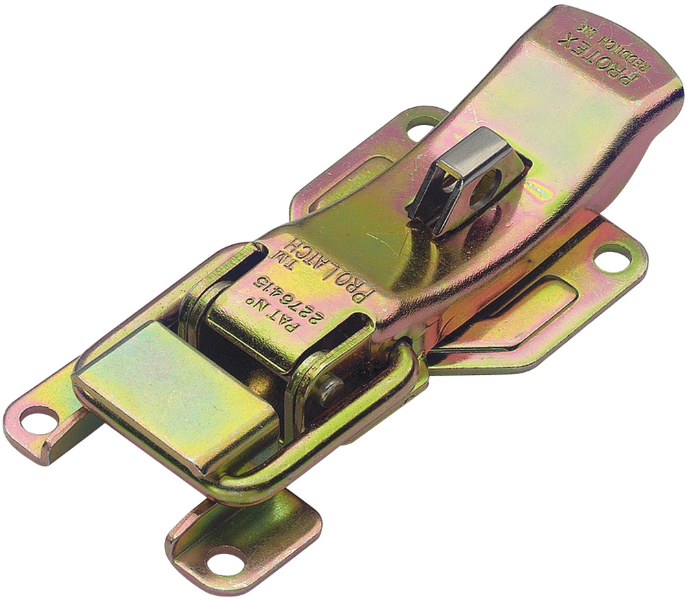 ProLatch with Safety Catch & Padlockable Mild Steel Zinc Plate Passivate (Yellow)