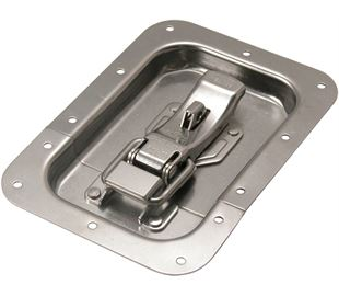 ProLatch in Recess Dish with Safety Catch & Padlockable Stainless Steel (Natural)