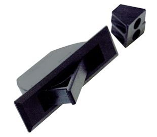Handle, Concealed Pull, Surface Mount, Black Powder Coated