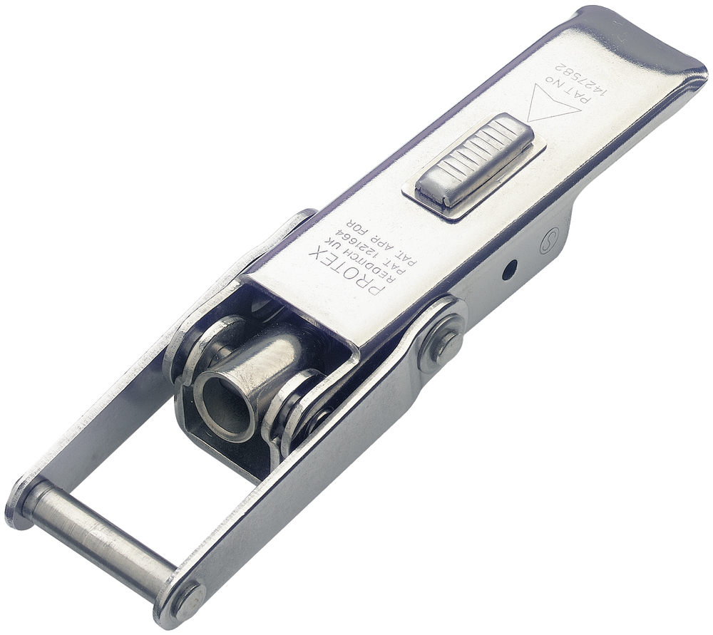 Adjustable Latch with Safety Catch Medium Duty Stainless Steel (Natural)