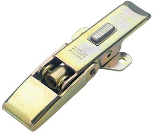 Adjustable Latch with Safety Catch Medium Duty Mild Steel Zinc Plate Passivate (Yellow)