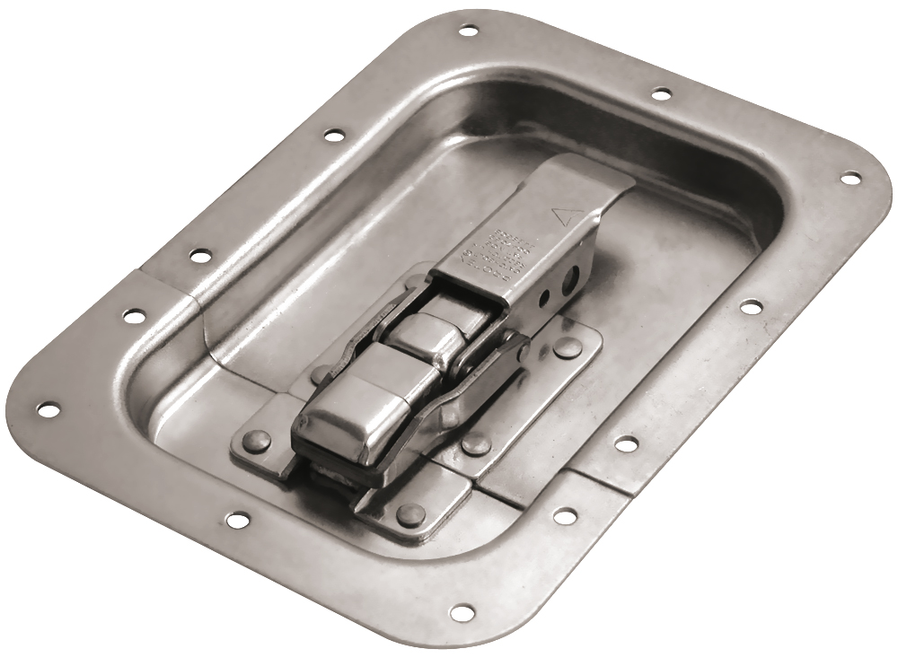 CatchBolt in Recess Dish Padlockable Stainless Steel (Natural)