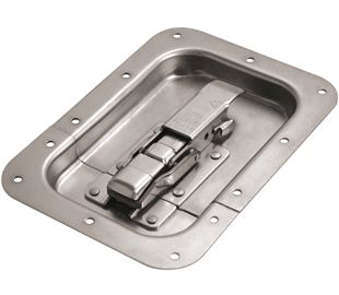 CatchBolt in Recess Dish with Safety Catch Stainless Steel (Natural)