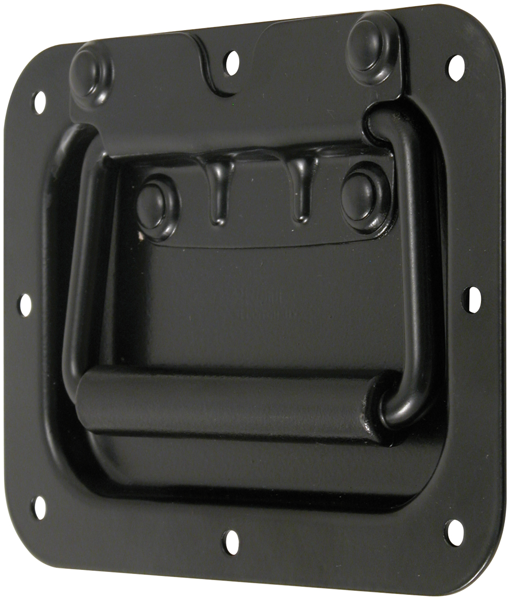 Recessed Spring Loaded Handle Mild Steel Black