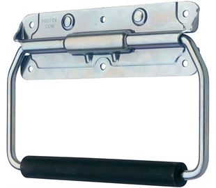 Spring Loaded Handle Mild Steel Zinc Plate Passivate (Silver Blue)