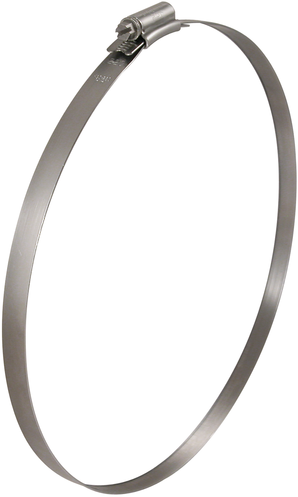 250mm-280mm Diameter Worm Drive Hose Clip Hi-Grip Stainless Steel (Natural)