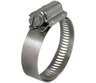 30mm-50mm Diameter Worm Drive Hose Clip Hi-Torque Stainless Steel  (Natural)