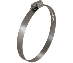 130mm-160mm Diameter Worm Drive Hose Clip Hi-Torque Stainless Steel  (Natural)