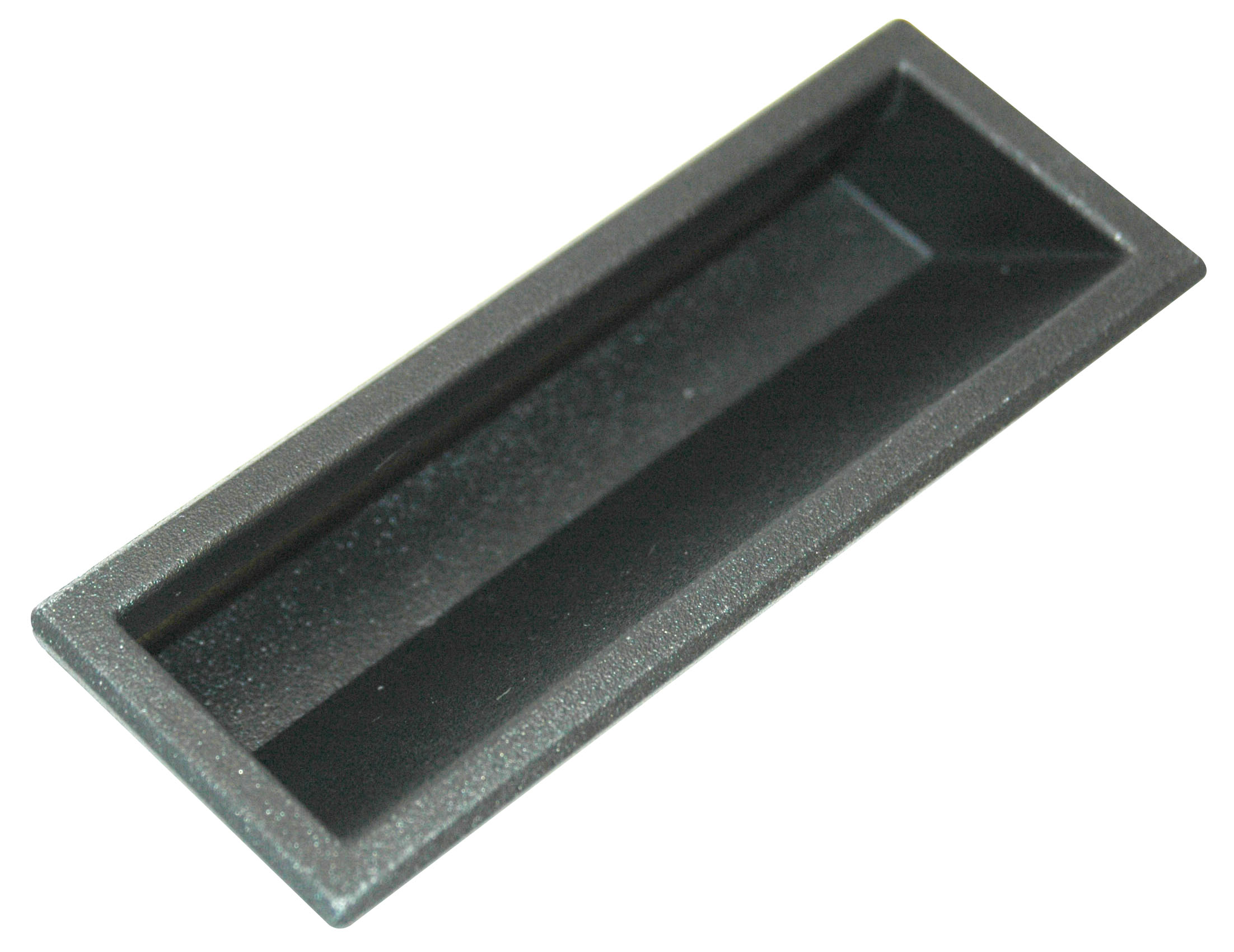 Handle, Small Flush Pull, 1.4mm to 1.8mm Black ABS Plastic