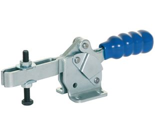 Toggle Clamp Horizontal Action Adjustable Bar Mild Steel Zinc Plate Passivate (Silver Blue)