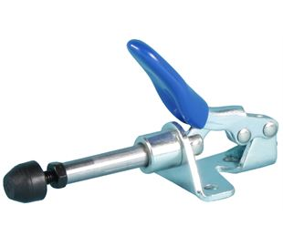 Toggle Clamp Plunger Action Mild Steel Zinc Plate Passivate (Silver Blue)