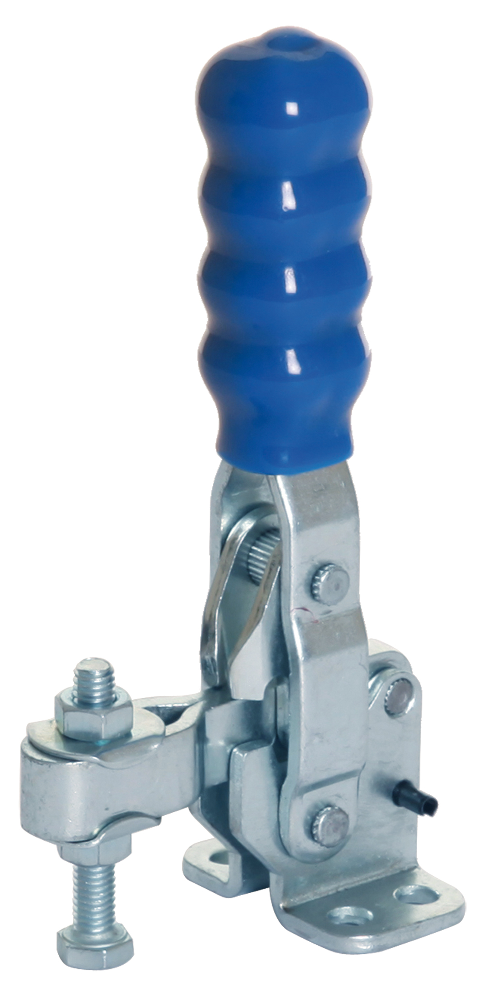 Toggle Clamp Vertical Action Adjustable Bar Mild Steel Zinc Plate Passivate (Silver Blue)