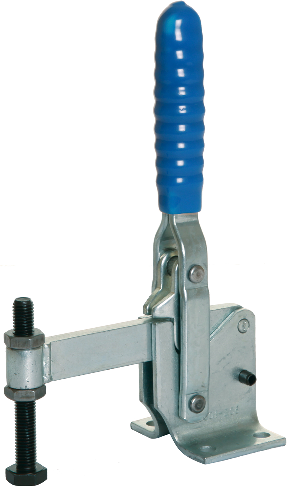Toggle Clamp Vertical Action Mild Steel Zinc Plate Passivate (Silver Blue)
