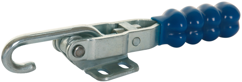 Toggle Clamp Horizontal Draw Action Mild Steel Zinc Plate Passivate (Silver Blue)